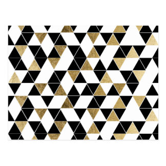 Triangles modernes noires, blanches, et de Faux Carte Postale
