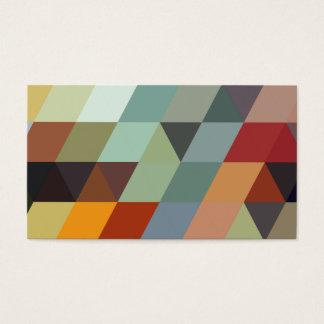 Triangles multicolores géométriques des motifs | cartes de visite