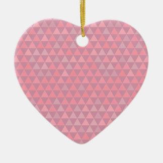 Triangles roses de Mauvelous Ornement Cœur En Céramique