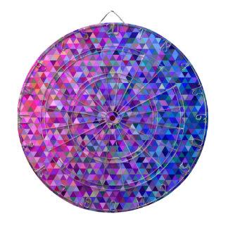Triangles roses et bleues cibles de fléchettes