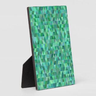 Triangles vertes en pastel photo sur plaque