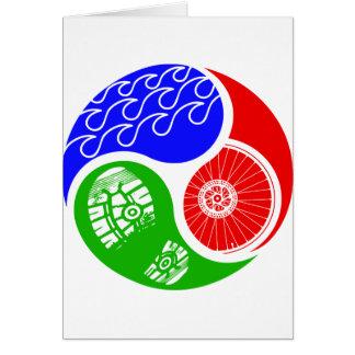 Triathlon TRI Yin Yang Carte De Vœux