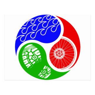 Triathlon TRI Yin Yang Carte Postale
