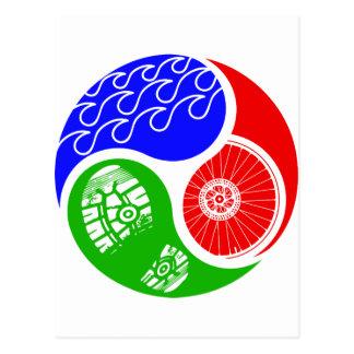 Triathlon TRI Yin Yang Cartes Postales