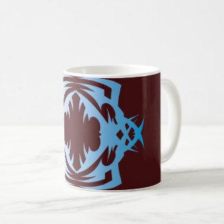 Tribal 16 blue over réseau mug