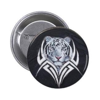Tribal blanc de tigre pin's avec agrafe
