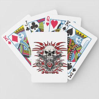 Tribal de crâne jeu de cartes