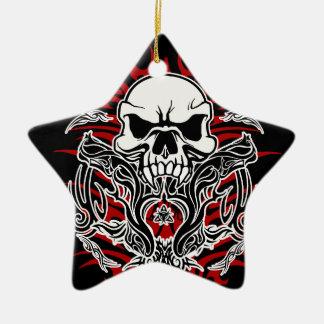 Tribal de crâne ornement étoile en céramique
