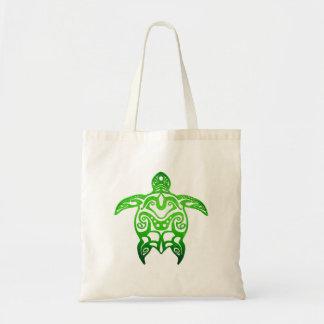 Tribal de tortue de mer verte sacs de toile