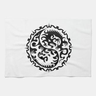 Tribal dragon serviette pour les mains
