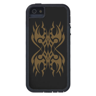 Tribal iphone 18 gold over black coque iPhone 5