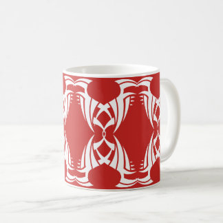 Tribal mug 12 white over réseau