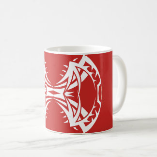 Tribal mug 14 45-tours white over réseau