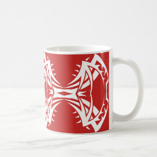 Tribal mug 14 white over réseau