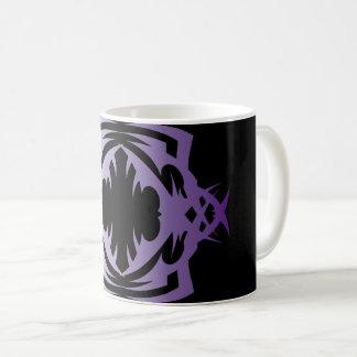 Tribal mug 16 purple over black