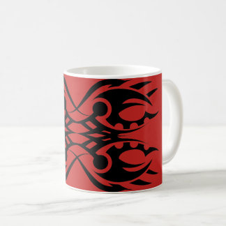Tribal mug 18 black over réseau