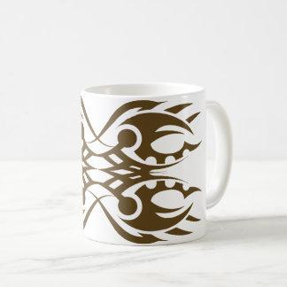 Tribal mug 18 gold over white