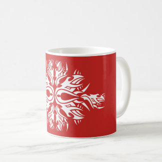 Tribal mug 6 one white over réseau