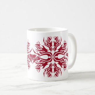 Tribal mug 6 réseau over white