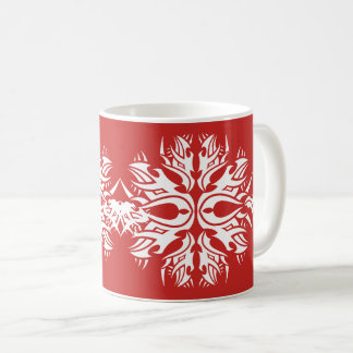 Tribal mug 6 white over réseau