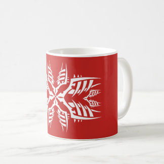 Tribal mug 7 white over réseau