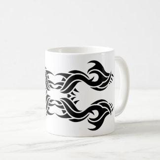 Tribal mug 8 black and white