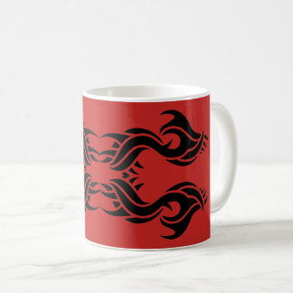 Tribal mug 8 black over réseau