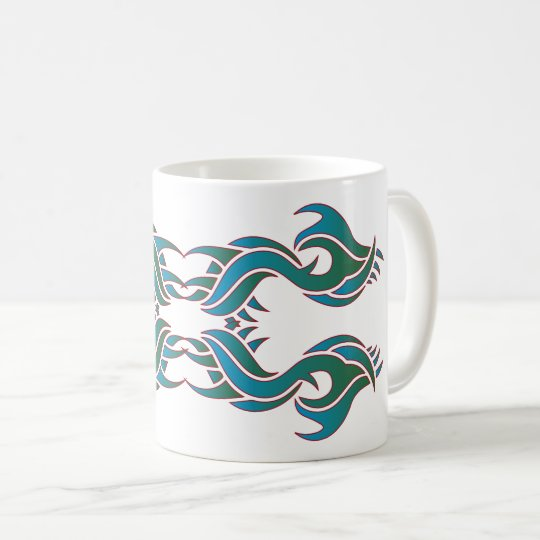 Tribal mug 8 couleurs over white