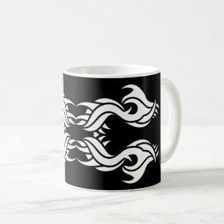 Tribal mug 8 White over black