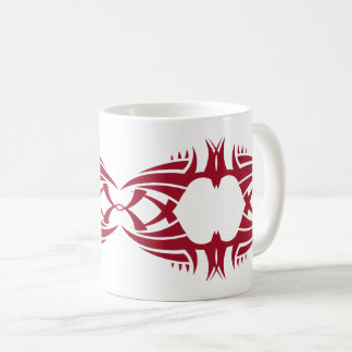 tribal mug crow red over white