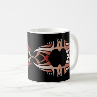 Tribal mug crow réseau couleurs over black