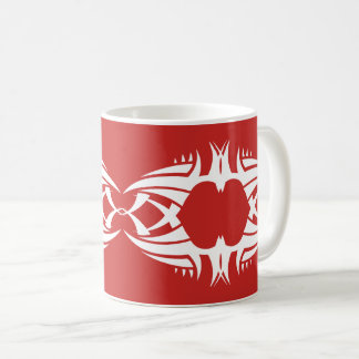 tribal mug crow white over réseau