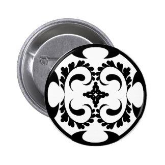 Tribal noir et blanc badge