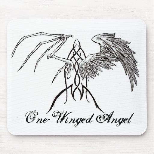 Tribal un ailes mouspad d 39 ange tapis de souris zazzle for Surface minimum bureau code du travail