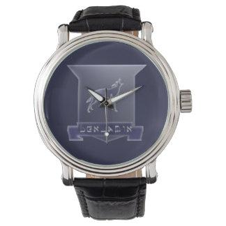 Tribu de montre en cuir vintage de crête de