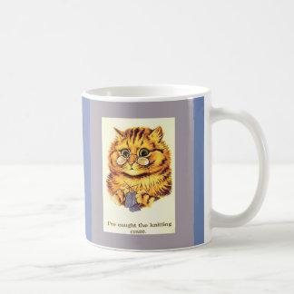 Tricot vintage de chat par Louis Wain Mug
