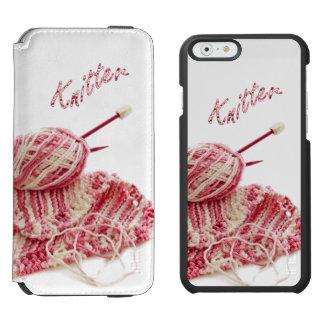 """Tricotage à la main de rose de """"tricoteuse"""" et coque-portefeuille iPhone 6 incipio watson™"""
