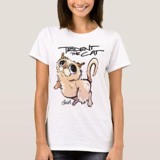 Trident la pièce en t 01 de caractère de chat t-shirt