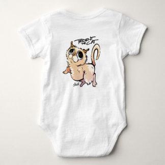 Trident la salopette unisexe de bébé de chat body
