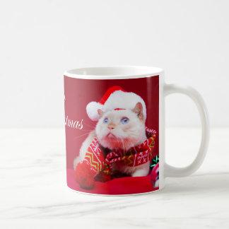 Trident la tasse de café de Noël de chat