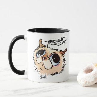 Trident la tasse de café illustrée par chat 02