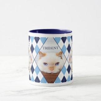 Trident le café à motifs de losanges Mug_01 de Mugs
