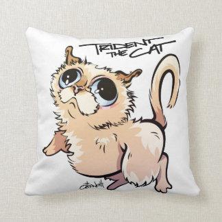 Trident le carreau 01 de caractère de chat oreillers
