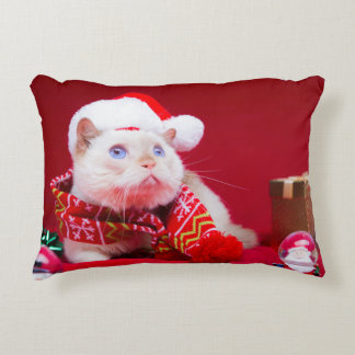Trident le coussin de Noël de chat
