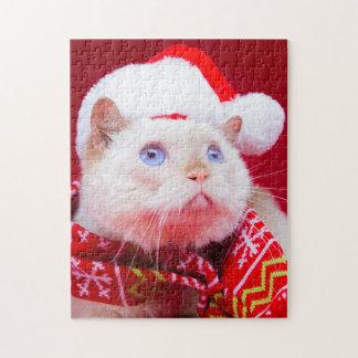 Trident le puzzle de Noël de chat