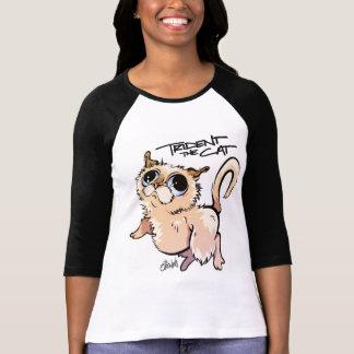 Trident le raglan 01 de douille du chat 3/4 t-shirt