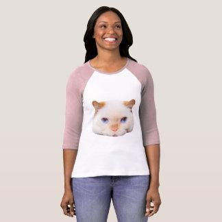 Trident le T-shirt de base-ball de chat