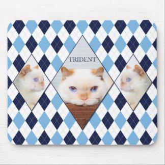 Trident le tapis de souris de Jacquard de chat