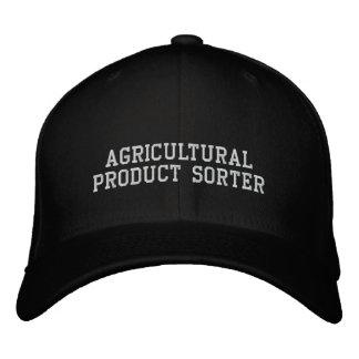 Trieuse de produit agricole casquette brodée
