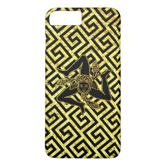 Trinacria sicilien en noir et or coque iPhone 7 plus
